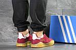 Мужские кроссовки Adidas Kamanda (Бордовые) , фото 3
