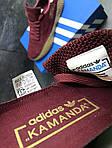 Мужские кроссовки Adidas Kamanda (Бордовые) , фото 6