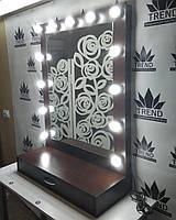 Зеркало с полочкой для визажиста