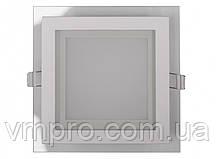 LED панель Luxel квадратная со стеклянным декором, 6W 4000K (DLSG-6N)