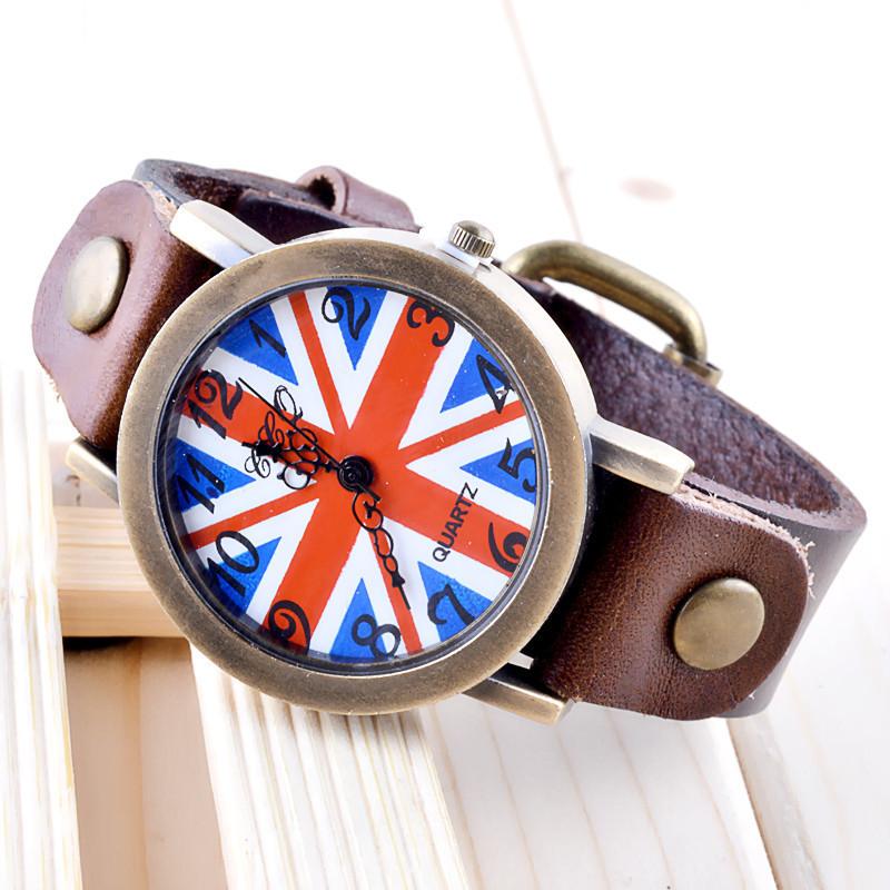 Часы женские наручные BRITISH FLAG brown (коричневый)