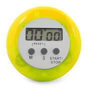 Кухонный таймер, секундомер, будильник yellow (желтый)