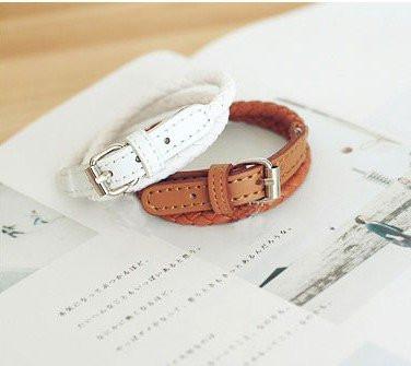 Кожаный браслет - ремешок brown (коричневый)