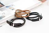 Кожаный браслет - ремешок brown (коричневый), фото 2