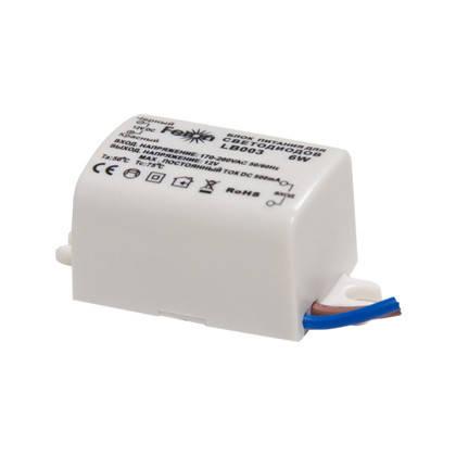 Блок питания для светодиодной ленты 12в 0,5А 6вт Feron LB003 , фото 2