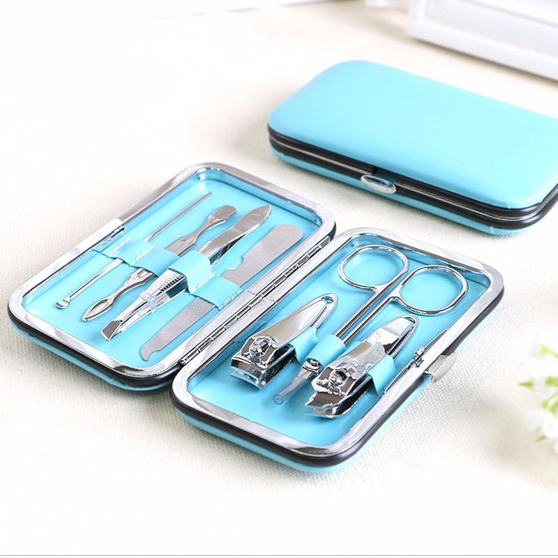 Маникюрный набор Travel set blue (голубой)