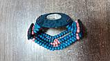 Часы женские браслет WOOD blue-rose, фото 3