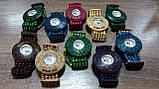 Часы женские браслет WOOD blue-rose, фото 4