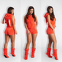 Женский костюм для дома (жилет, шорты, сапожки) (мод. 173)