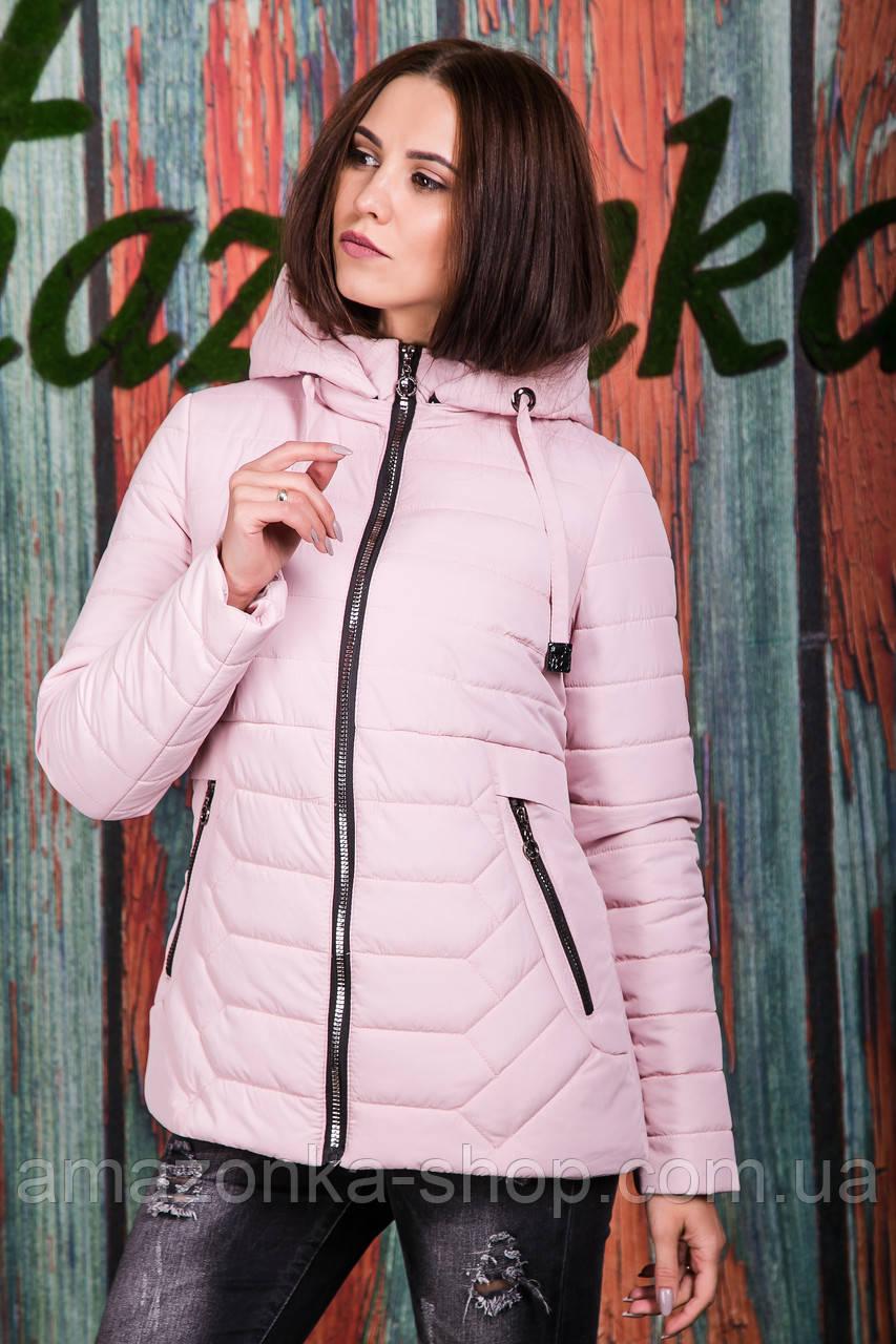 Весенняя женская куртка с капюшоном - модель 2019 - (кт-620)