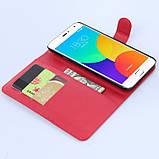 Чехол-книжка Bookmark для Meizu MX4 Pro red, фото 4