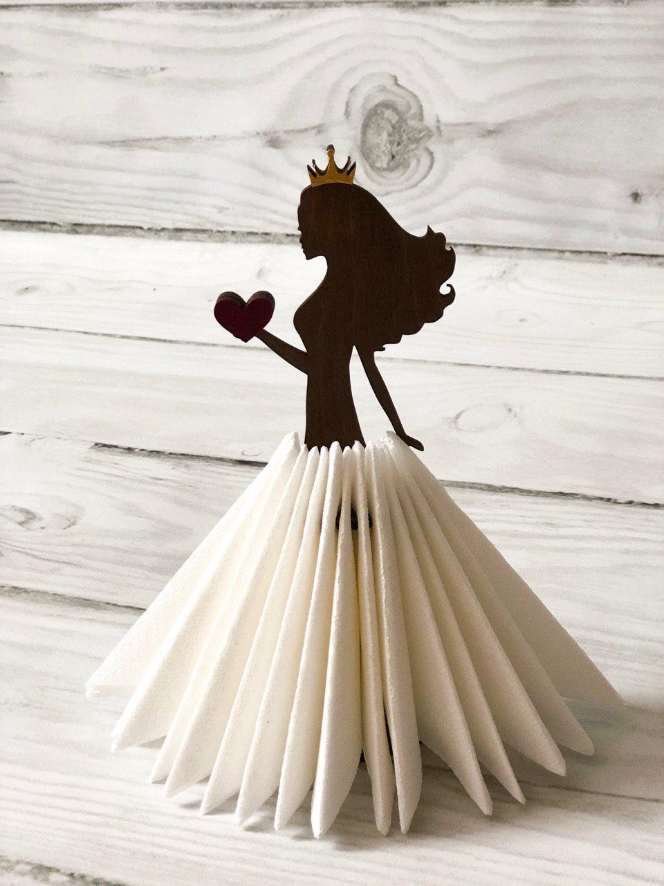 "Салфетница ""Принцесса с сердцем"""