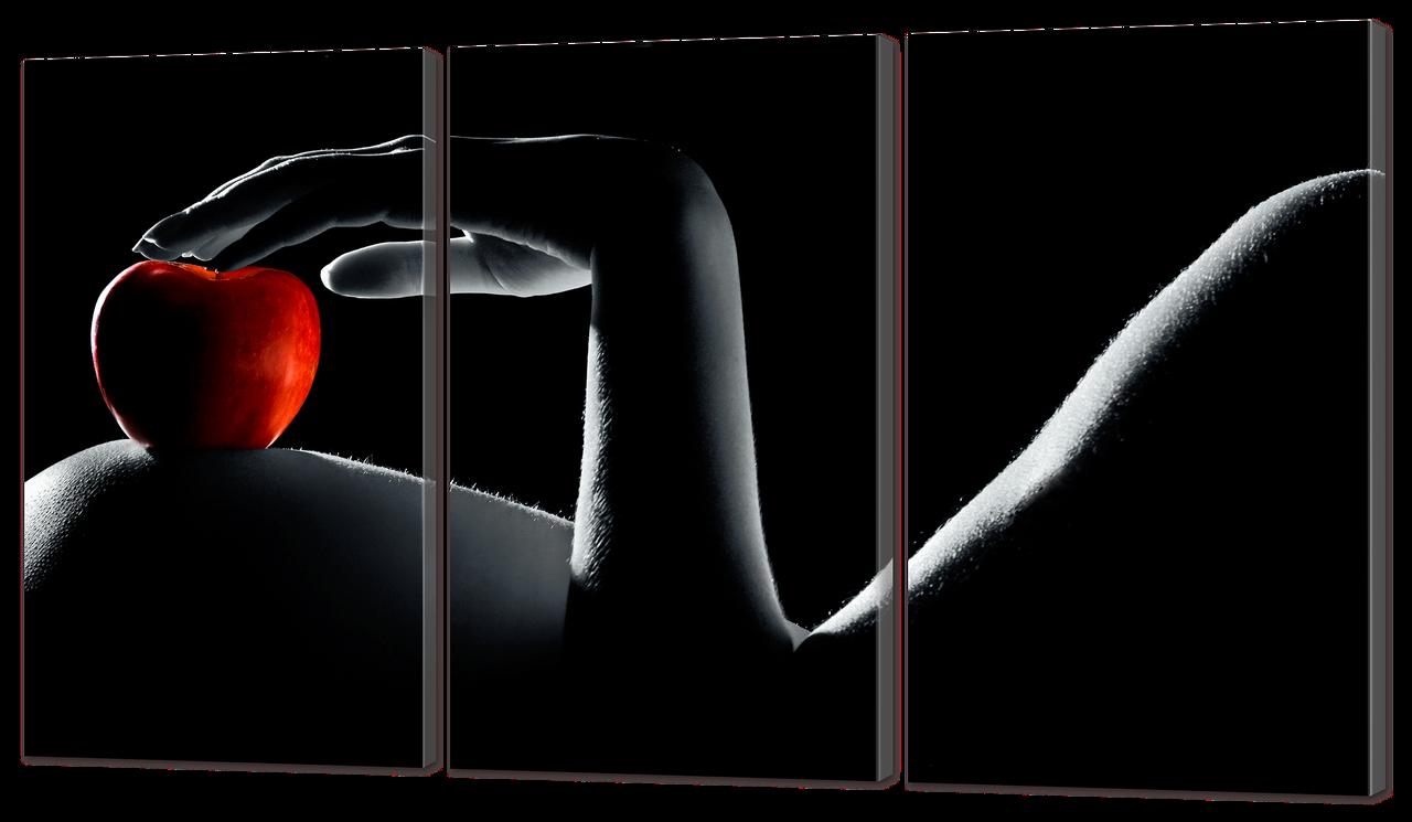 Модульная картина Interno Холст Красное яблоко 104х58см (R903M)