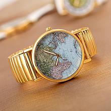 Часы женские Planet GOLD карта мира