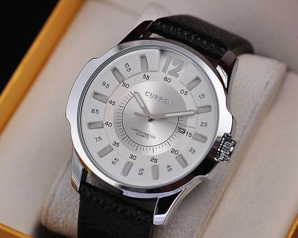 Часы мужские Curren Colorado black-sіlver-white