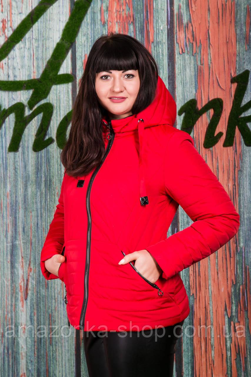 Весенняя женская куртка больших размеров - модель 2019 - (кт-423)