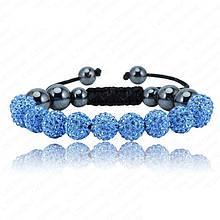 Браслет женский Шамбала SHAF0039 light blue (голубой)