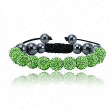 Браслет жіночий Шамбала SHAF0024 green (зелений)