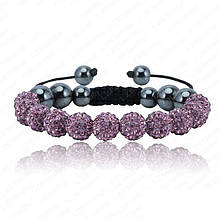Браслет женский Шамбала SHAF0022 purple (фиолетовый)