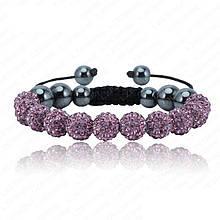Браслет жіночий Шамбала SHAF0022 purple (фіолетовий)