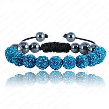 Браслет женский Шамбала SHAF0025 dark turquoise (бирюзовый)