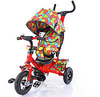 Велосипед трехколесный TILLY Trike T-351-1 КРАСНЫЙ с надувными колесами