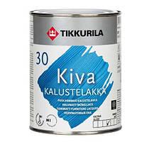 Лак Kiva Tikkurila для дерева полуматовый, 2.7л