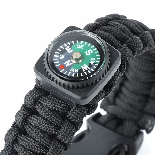 Браслет Paracord  Flint-Fire + separate compass black