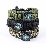 Браслет Paracord  Flint-Fire + separate compass black, фото 3