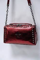 Модный клатч из натуральной кожи Princessa 9018 wine. Реплика