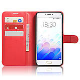 Чехол-книжка Bookmark для Meizu M3 Note red, фото 4