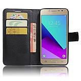 Чехол-книжка Bookmark для Samsung Galaxy J2 Prime black, фото 4