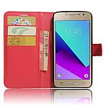 Чехол-книжка Bookmark для Samsung Galaxy J2 Prime red, фото 4