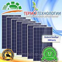 Amerisolar 330W 5ВВ AS-6P Солнечная панель. Поликристалл