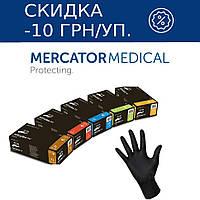 Перчатки нитриловые неопудренные черные Mercator Medical NITRYLEX BLACK (черные), фото 1