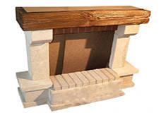 Балка на камин из дерева «под старину»