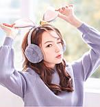 Наушники меховые с ушками кролика LOLA gray, фото 7
