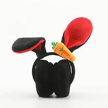 Наушники меховые с ушками кролика LOLA black
