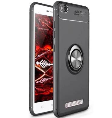 Силиконовый чехол Sirius Metal Ring для Xiaomi Redmi 4A black