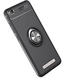 Силиконовый чехол Sirius Metal Ring для Xiaomi Redmi 4A black, фото 3