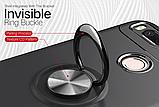 Силиконовый чехол Sirius Metal Ring для Xiaomi Redmi 4A black, фото 5