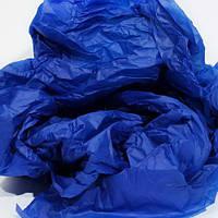 Папиросная бумага тишью синяя 50 х 70 см