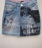 Модная джинсовая юбка для девочек 116,122,128,140 роста Girl