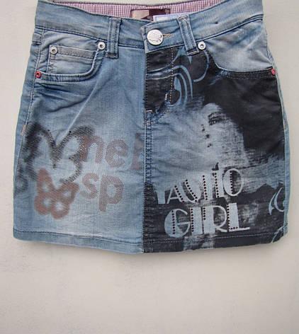 Модная джинсовая юбка для девочек 116,122,128,140 роста Girl, фото 2
