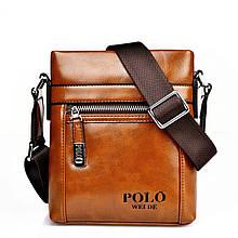 Сумка мужская Polo Ding mini light brown