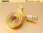 USB кабель Remax Golden  MicroUSB 1m , фото 3