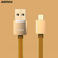 USB кабель Remax Golden  MicroUSB 1m