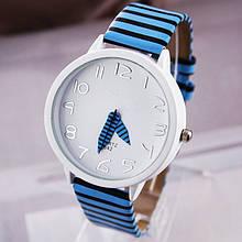 Часы наручные женские Zebra blue