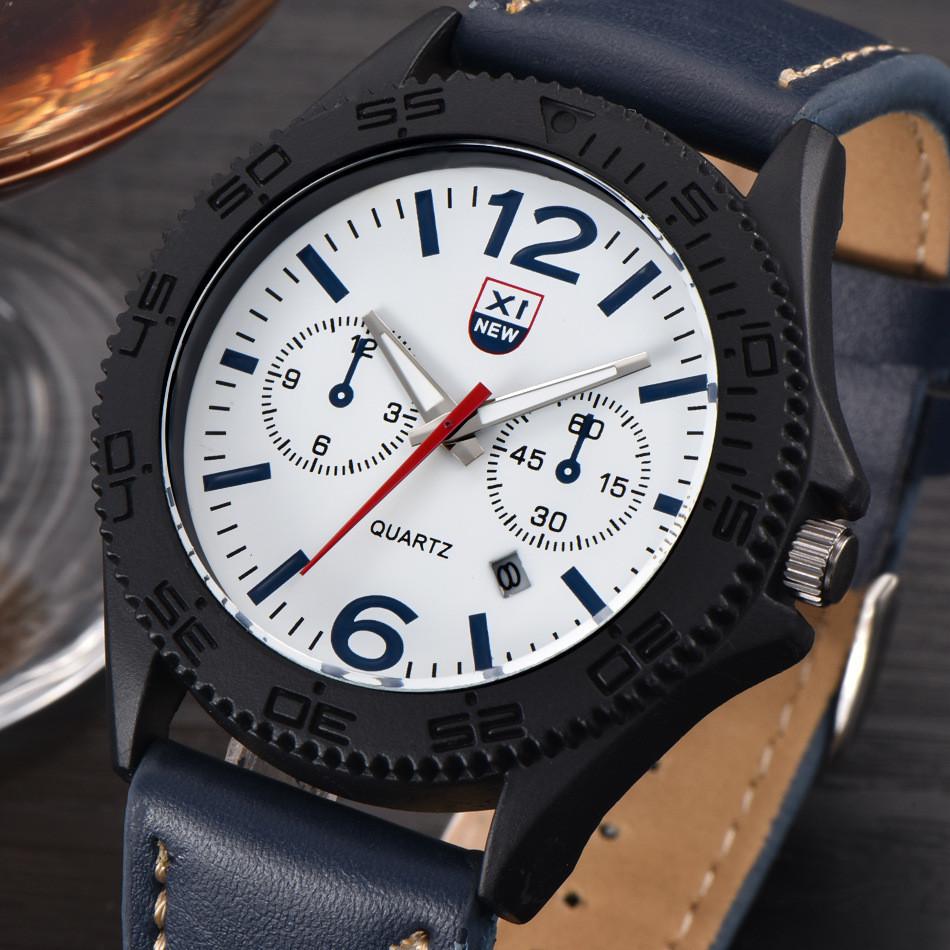 Годинники чоловічі наручні XI New Tiger blue-white