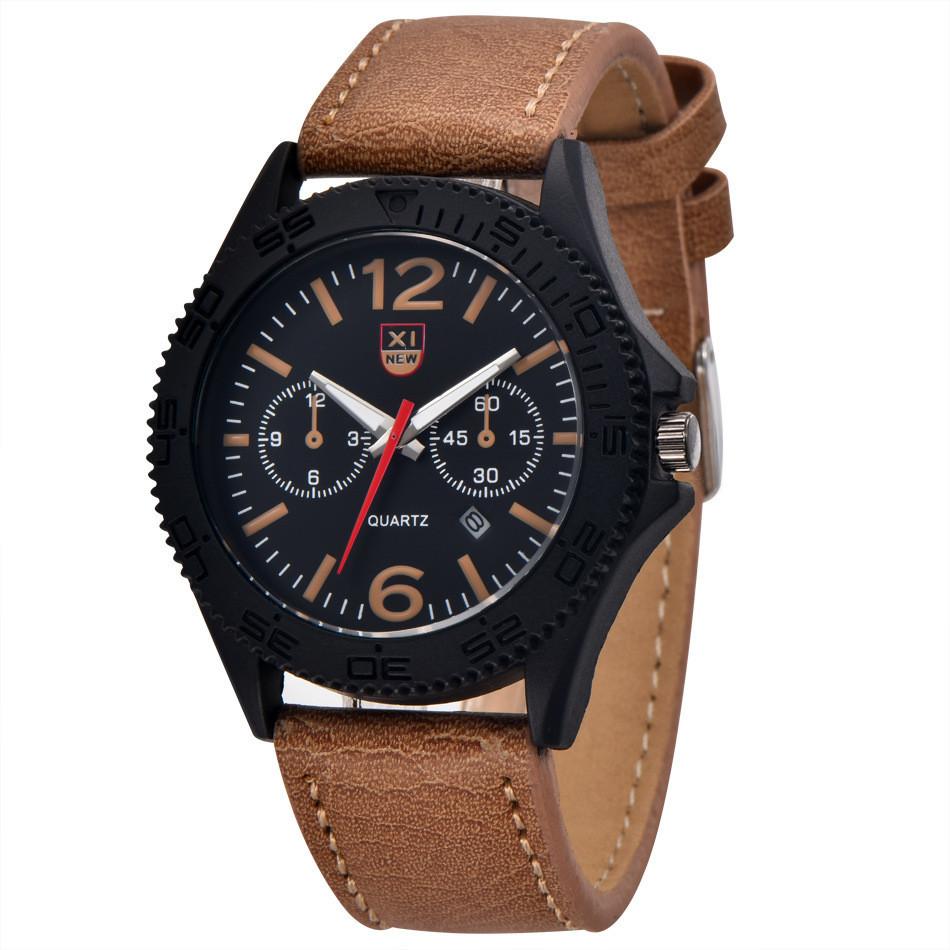 Часы мужские наручные XI New Tiger light brown-black